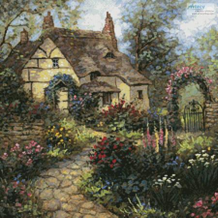 cross stitch pattern Cottage Garden (Crop)