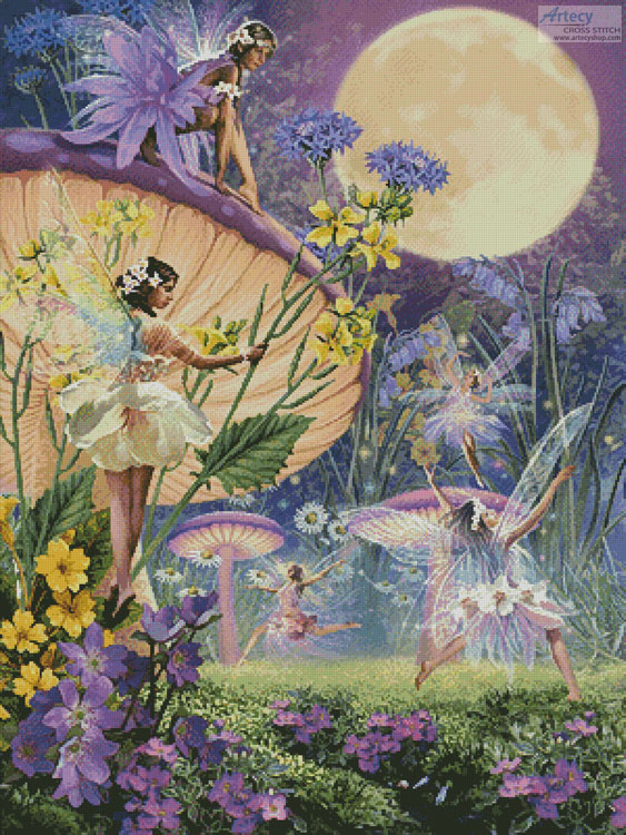 cross stitch pattern Fairy Ring - Twilight Dancers