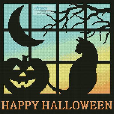 cross stitch pattern Halloween Square 2