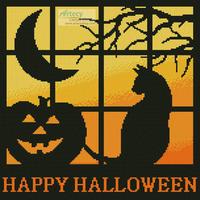cross stitch pattern Halloween Square 3