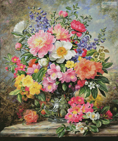 cross stitch pattern June Flowers in Radiance (Large)