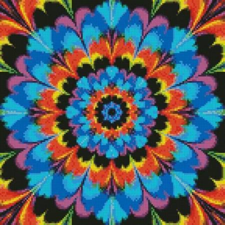 cross stitch pattern Kaleidoscope 2 (Crop)