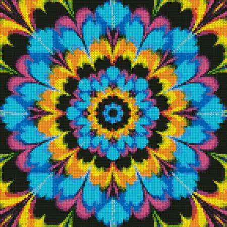 cross stitch pattern Kaleidoscope 3 (Crop)