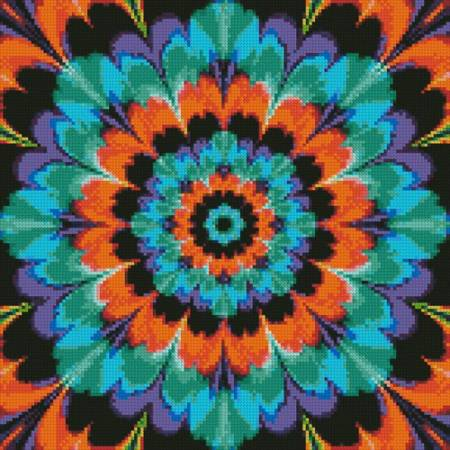 cross stitch pattern Kaleidoscope 4 (Crop)