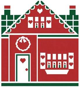 cross stitch pattern Little Christmas Cottage 1