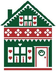 cross stitch pattern Little Christmas Cottage 2