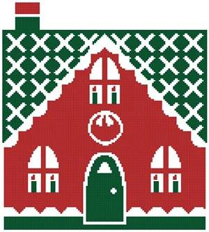 cross stitch pattern Little Christmas Cottage 3