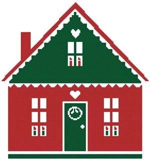 cross stitch pattern Little Christmas Cottage 4