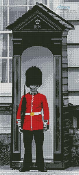 cross stitch pattern London Grenadier Guard (Crop)