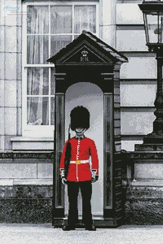 cross stitch pattern London Grenadier Guard