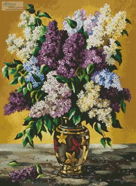 cross stitch pattern Lilac Bouquet