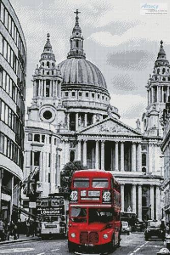 cross stitch pattern London Bus