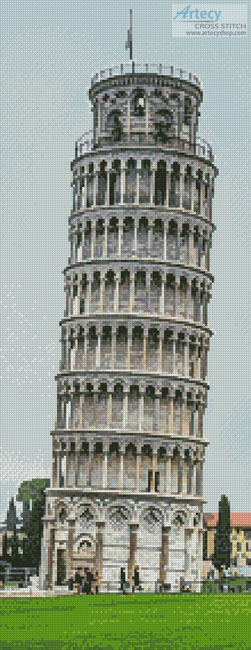 cross stitch pattern Leaning Tower of Pisa (Crop)