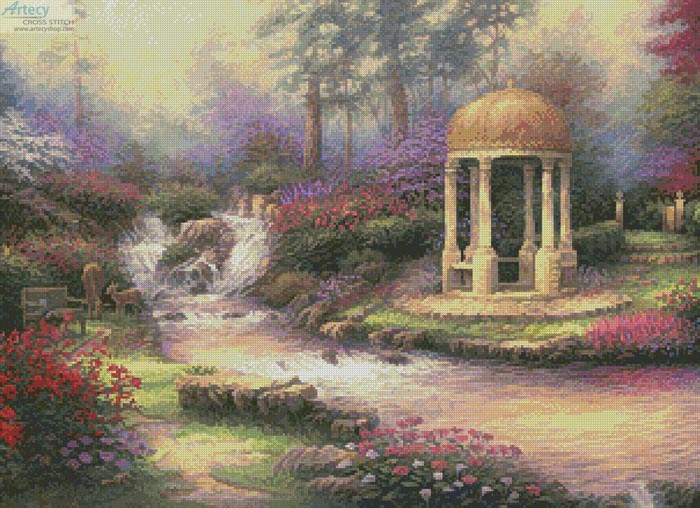 cross stitch pattern Love's Infinity Garden
