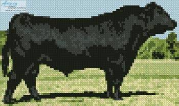 cross stitch pattern Mini Black Angus