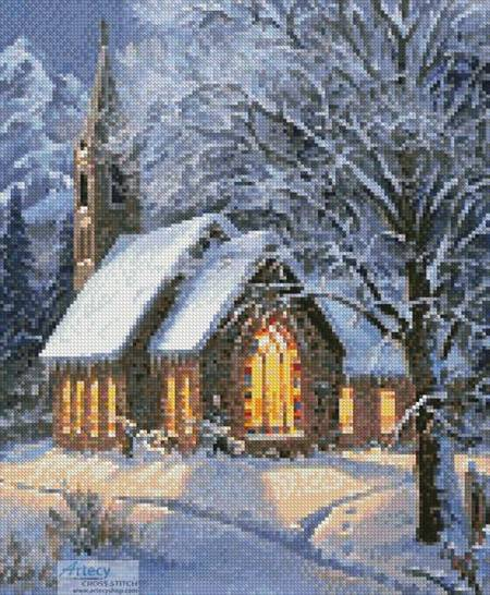 cross stitch pattern Midnight Clear (Large - Crop)