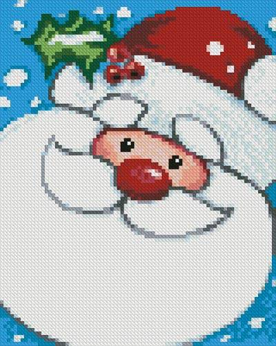cross stitch pattern Mini Jolly Santa