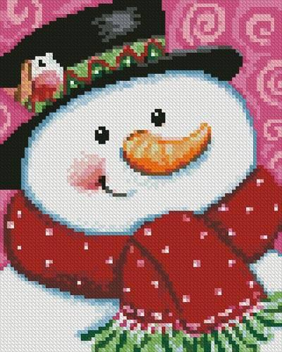 cross stitch pattern Mini Merry Snowman