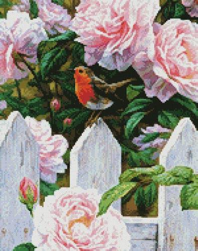 cross stitch pattern Morning in Provence (Crop 1)