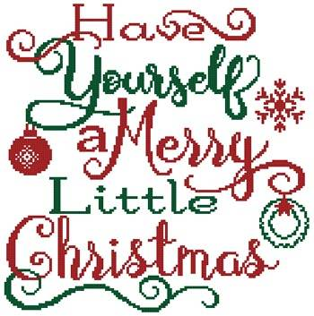 cross stitch pattern Merry Little Christmas
