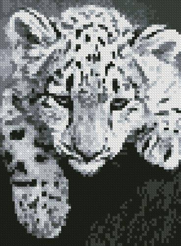 cross stitch pattern Mini Snow Leopard Cub