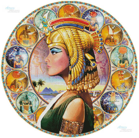 cross stitch pattern Nefertari Circle (Left)