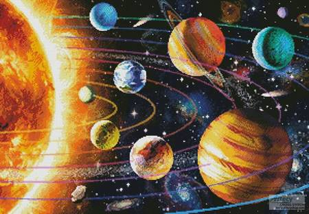 cross stitch pattern New Solar System