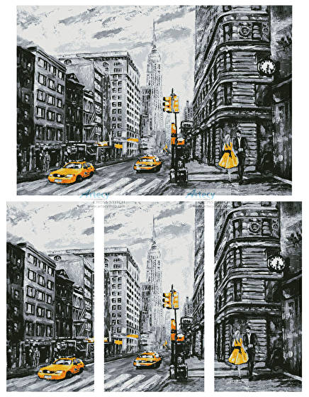 cross stitch pattern New York Abstract (Large)