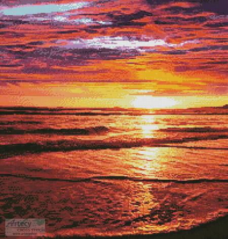 cross stitch pattern Ocean Sunrise