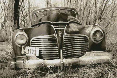 cross stitch pattern Old Car (Sepia)