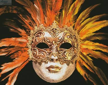cross stitch pattern Orange Mask