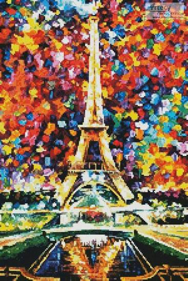 cross stitch pattern Paris of My Dreams (Crop)