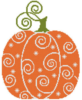 cross stitch pattern Pumpkin Swirl