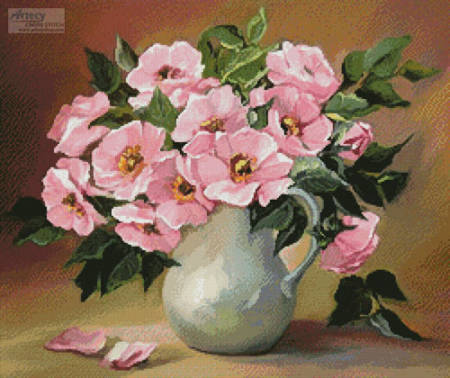 cross stitch pattern Pink Bouquet