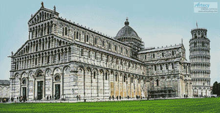 cross stitch pattern Pisa Cathedral in the Day
