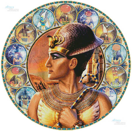 cross stitch pattern Rameses II Circle (Left)