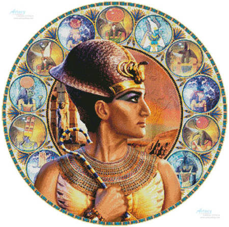 cross stitch pattern Rameses II Circle (Right)