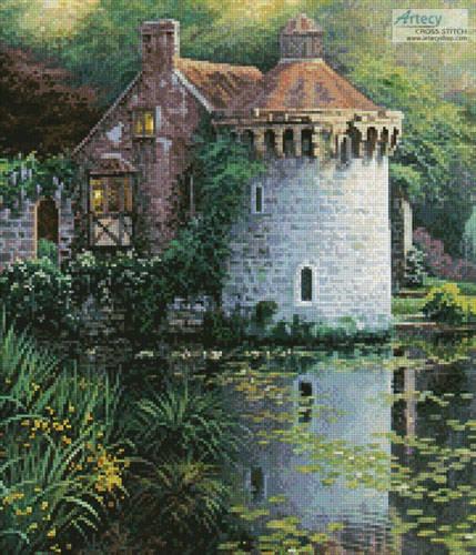 cross stitch pattern Scotney Castle Garden (Crop)