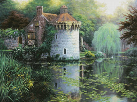 cross stitch pattern Scotney Castle Garden (Large)