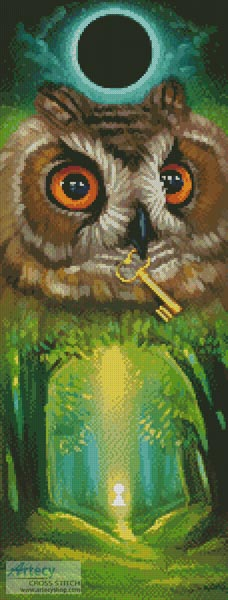 cross stitch pattern Summer Owl