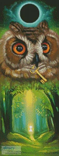 cross stitch pattern Summer Owl
