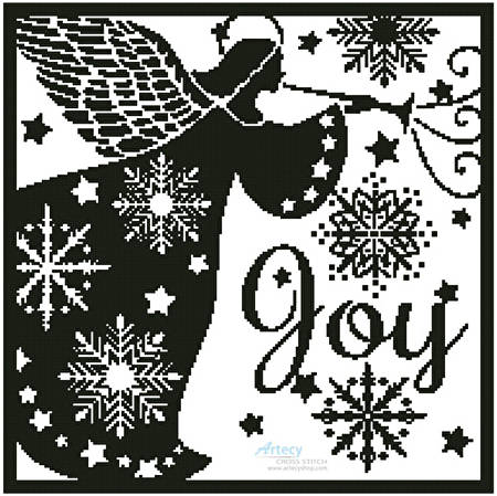 cross stitch pattern Snowflake Angel Silhouette