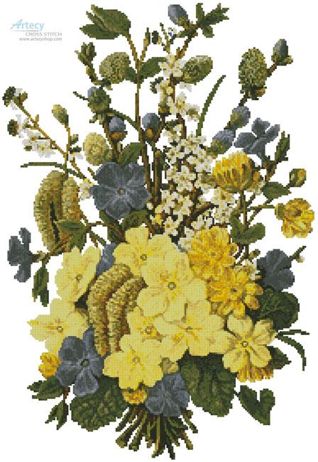 cross stitch pattern Spring Flowers Bouquet