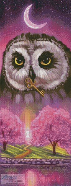 cross stitch pattern Spring Owl