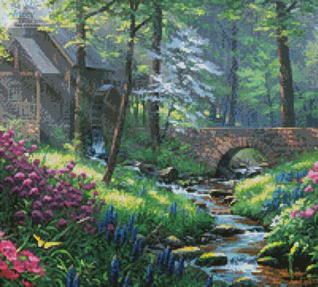 cross stitch pattern Spring's Renewal (Crop)