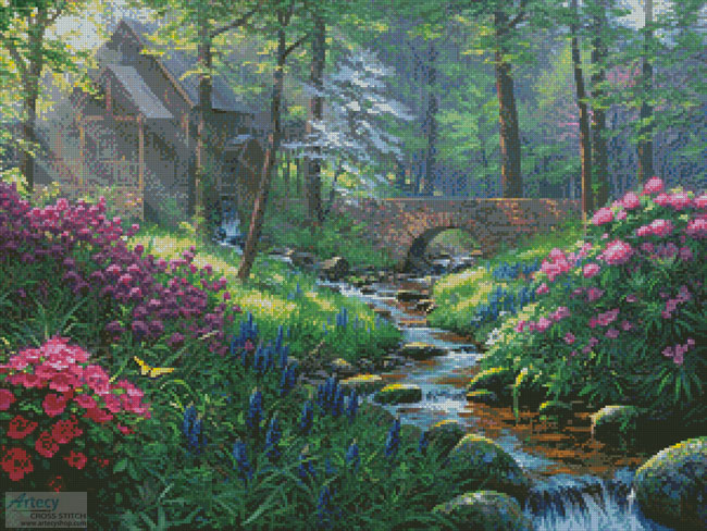 cross stitch pattern Spring's Renewal