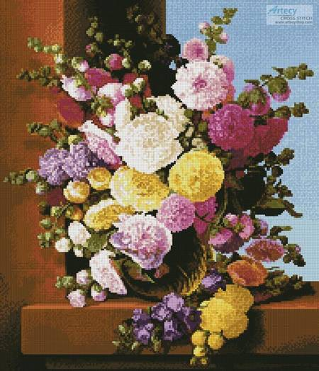 cross stitch pattern Still Life of Flowers