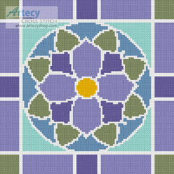 cross stitch pattern Stained Glass Square 2