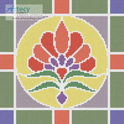 cross stitch pattern Stained Glass Square 3