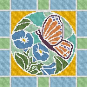 cross stitch pattern Stained Glass Square 5